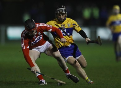 Clare v Cork in Round 5 of the Co-Op Superstores Munster Hurling League.
