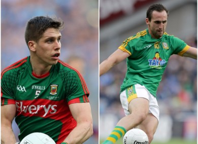 Mayo's Lee Keegan and Meath's Graham Reilly can start preparing for an All-Ireland club final.