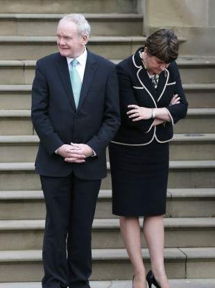 File photo of Martin McGuinness and Arlene Foster