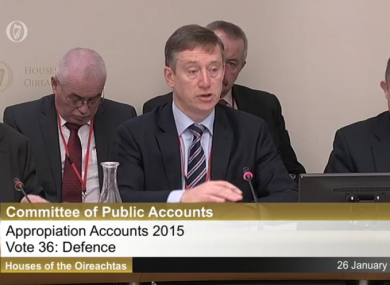 Secretary General of the Department of Defence Maurice Quinn.