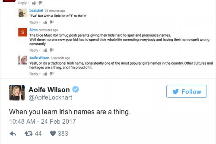 An Irish journalist had an excellent response when a troll