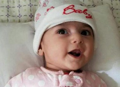 Four-month-old Fatemeh Reshad suffers from a heart defect and needs live-saving surgery.