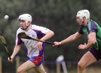 Mary I's Aaron Gillane in action against LIT's Barry O'Connell.