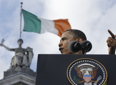 Barack Obama when he visited Ireland in 2011.