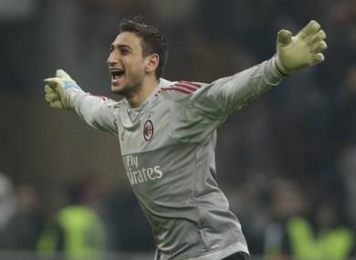 Gianluigi Donnarumma has impressed since making his Milan debut at 16.
