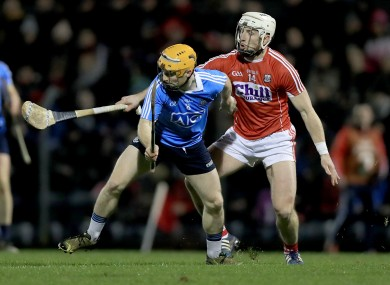 Cork's Patrick Horgan with Ben Quinn of Dublin.