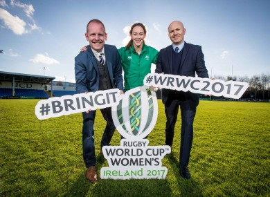 Ryle Nugent, Marie Louise Reilly and Glen Killane of eir Sport at today's announcement.