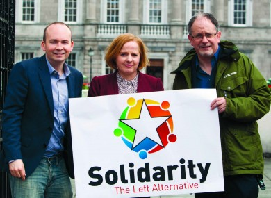 TDs Paul Murphy, Ruth Coppinger and Mick Barry.