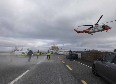The scene of the search for Rescue 116 last week.
