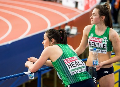 Neville and Healy were the only Irish athletes competing on day three.