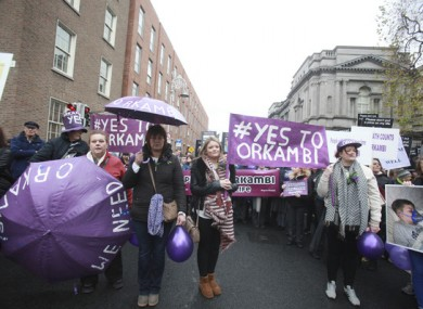 Campaigners in December calling for the HSE to approve Orkambi.