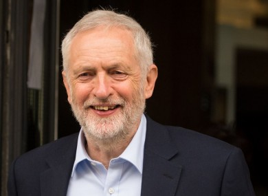 Labour leader Jeremy Corbyn leaves BBC Broadcasting House in central London today