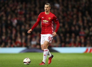 Manchester United's Zlatan Ibrahimovic makes our team of the year.