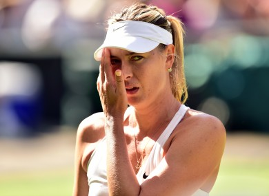 Maria Sharapova (file pic).