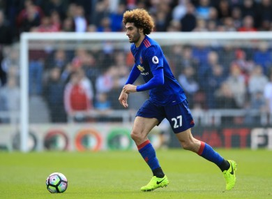 Fellaini could well start this evening.
