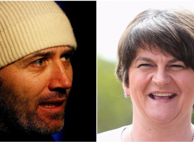 Tommy Tiernan joked about Arlene Foster as a cattle farmer.