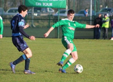 Purcell (right) playing for Boyle Celtic.