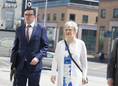 Katherine Zappone arriving at the Central Criminal Court today.
