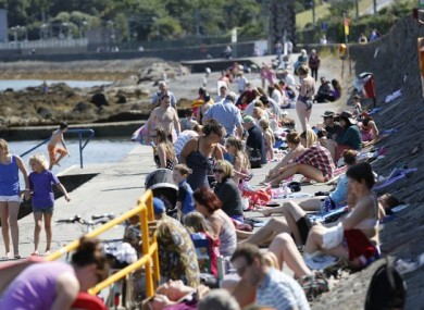 File photo of people at Seapoint Beach.