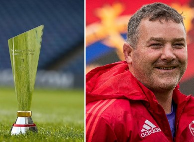 The new Anthony Foley Memorial Trophy.