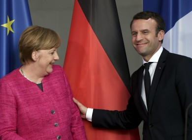 A trip to Berlin was Emmanuel macron's first trip as french President.