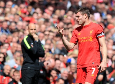 James Milner missed a penalty on a frustrating afternoon for Liverpool.