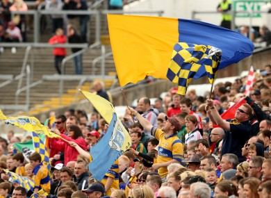 Clare supporters (file pic).