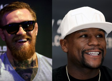 McGregor faces Mayweather in Vegas on 26 August.