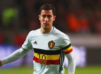 Belgium attacker Eden Hazard.
