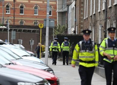 File photo. Gardaí on patrol in Dublin.