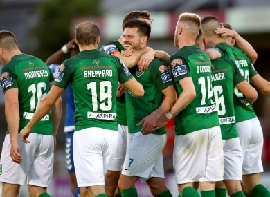 The Cork City players.