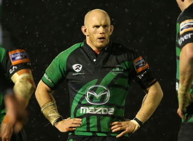 Johnny O'Connor in action for Connacht in 2012.
