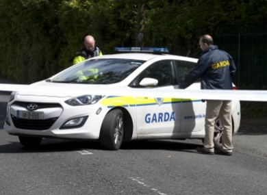 Gardaí at the scene of the shooting in 2015.