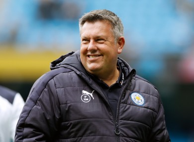 Leicester City manager Craig Shakespeare.