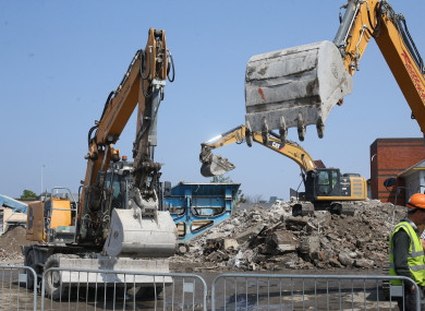 Construction began on the site earlier this year.
