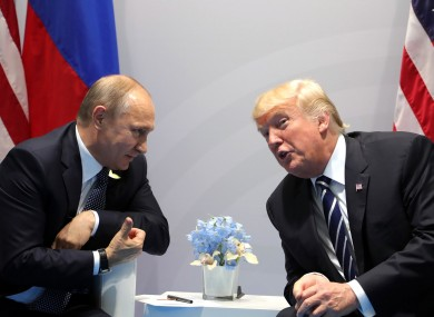 Putin and Trump meet at this week's G20 summit.