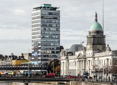 Liberty Hall in Dublin city centre, one of Dublin's tallest buildings