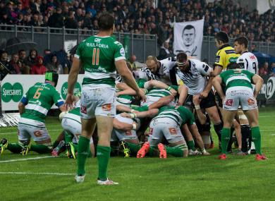 Zebre in action against Treviso.