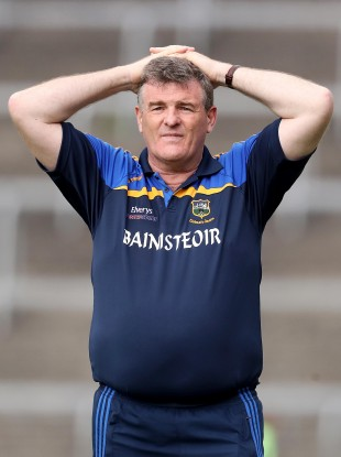 A disappointed Tipperary manager Liam Kearns.