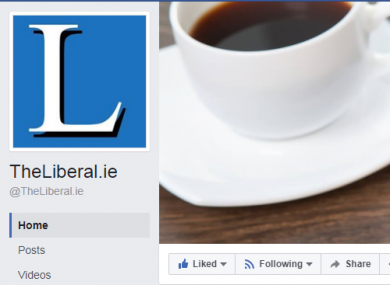 A screengrab from TheLiberal.ie's Facebook page.