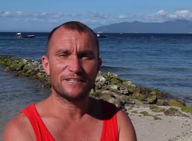 Irish Freediver Stephen Keenan who died in Egypt.