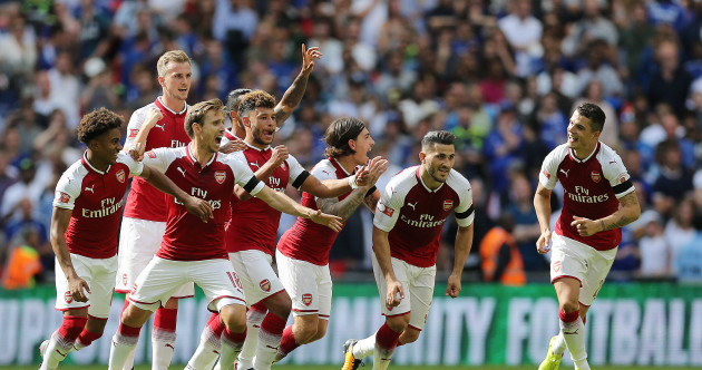 Courtois, Morata miss from the spot to gift Arsenal Community Shield victory