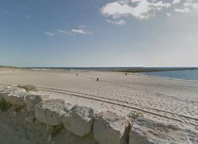 The stretch of beach where the plane crashed.