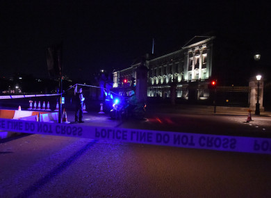 A police cordon outside Buckingham Palace following Friday's attack