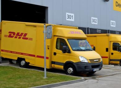File Photo: DHL delivery vans.
