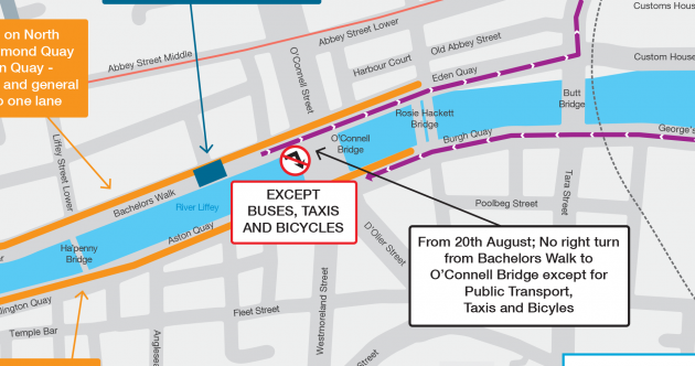 Extra bus lanes for Dublin city as cars will be reduced to one lane on quays