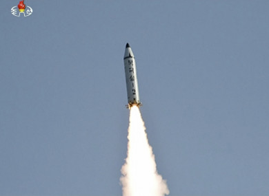 File photo of what is believed to be a North Korean missile.