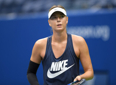 Sharapova received a wildcard entry for Flushing Meadows.