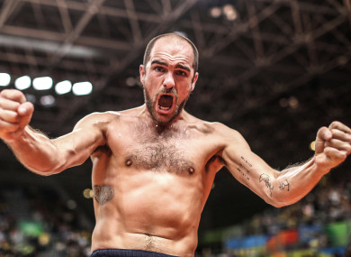 Evans after victory in Rio.