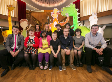 The cast and crew of Pablo at today's launch in Belfast.